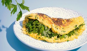 Omelette au persil