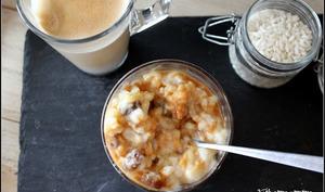Verrines de riz au lait rhum raisin au caramel beurre salé