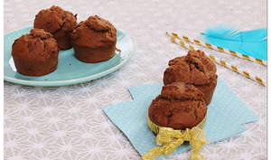 Muffins chocolat banane et noix de coco végan