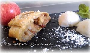 Strudel pommes-rhubarbe ou Apfelstrudel