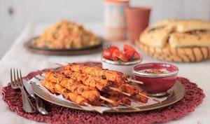 Brochettes de poulet façon Chich Taouk