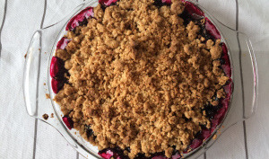 Crumble au fruits rouges et amaretti
