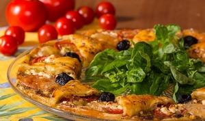 Pizza couronne feuilletée aux saveurs provençales