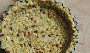 Pâte à tarte salée au quinoa en deux ingrédients