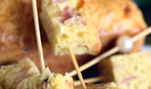 Cake au jambon et comté râpé