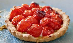 Tarte à la tomate et chimichurri