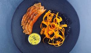 Saumon gravlax aux 5 épices et sauce nordique légère