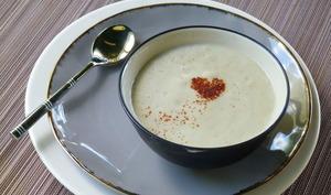 Soupe d'aubergines au yaourt