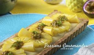 Tarte ananas mangue et fruit de la passion