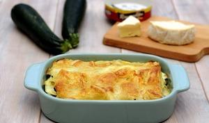 Lasagnes au jambon, courgettes et fromage Roucoulons