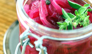 Pickles d'oignons rouges