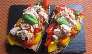 Bruschetta thon-poivrons