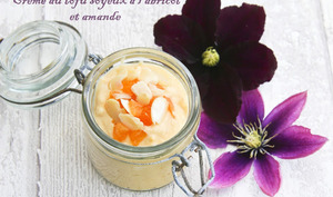 Crème au tofu soyeux à l'abricot et amande