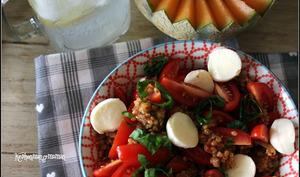 Taboulé de quinoa aux tomates cerises et mozzarella