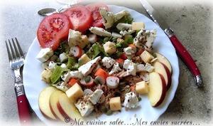 Salade thon, surimi et 3 fromages