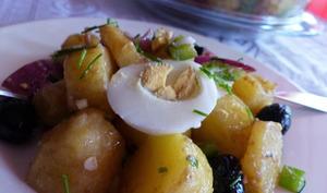 Salade de pommes de terre rattes