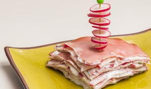 Gâteau de mortadelle aux radis