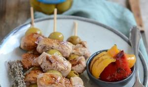 Brochettes de filet mignon aux olives