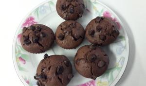Muffin moelleux et riches en chocolat