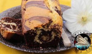 Cake marbré amandes chocolat en vidéo