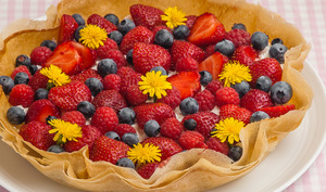 Tarte rapide ricotta fruits rouges