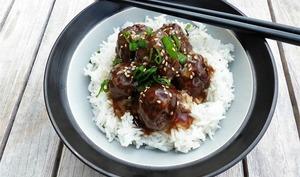 Boulettes de bœuf d'inspiration japonaise