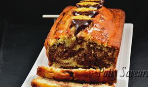Cake marbré chocorange