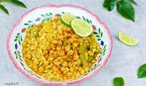 Une Poêlée de blé au curry