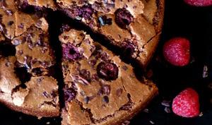Brownie aux framboises de Pierre Marcolini