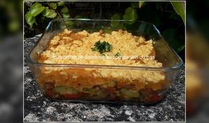 Crumble salé aux légumes du soleil et herbes de Provence au cookeo