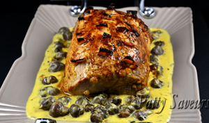 Rôti de porc sauce orange et safran
