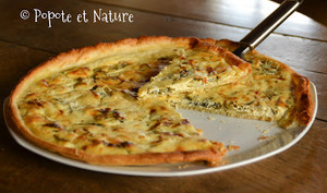 Tarte fine au fromage frais corse aux blettes et aux oignons