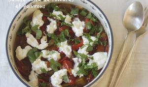 Salade cuite aux tomates et poivrons