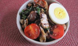 Salade de borlotti et poulet