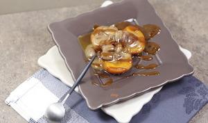Abricots rôtis à la crème de nougat et caramel salé
