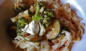 Salade de pâtes aux légumes et feta