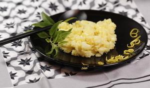 Écrasée de pommes de terre au citron confit