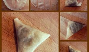 Pliage facile des feuilles de brick en samoussas