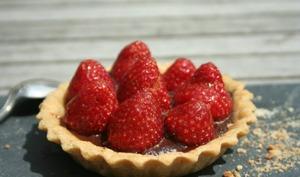 Tartelettes à la fraise et au chocolat
