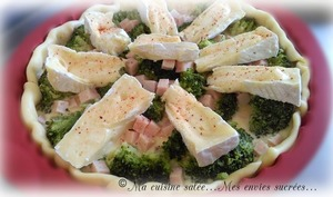 Tarte brocolis - camembert