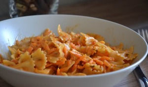 One pot pasta carottes, tomates et poulet