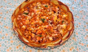 Pizza ensoleillée sucrée