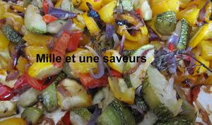 Légumes du soleil confits et cuits au four