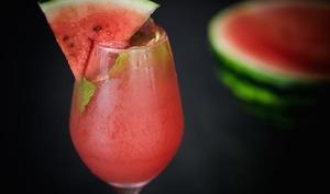 Cocktail jus de pastèque Aztek et crémant d'Alsace
