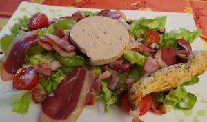 Salade gasconne improvisée