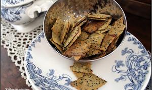 Biscuits apéritifs à la farine de pois chiches