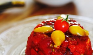 Tartare de tomates et baies de goji