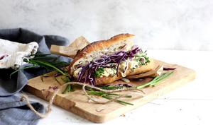 Sandwich au thon de pois chiche