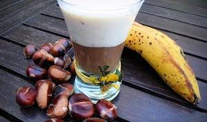 Verrine banane stracciatella et crème de marrons