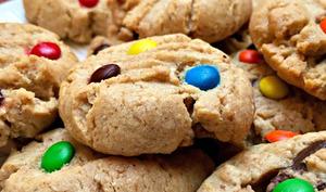 Les rainbow cookies aux M&M's